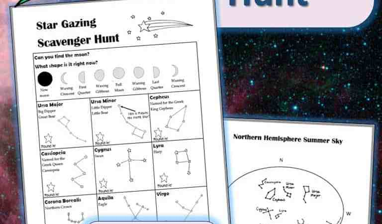 Printable Stargazing Scavenger Hunt