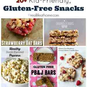Need to find some gluten-free snack ideas for on-the-go? Here are 20+ kid-friendly, gluten-free snack ideas (which are also perfect for adults!).