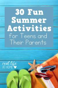 Summer Activities for Teens and their Parents