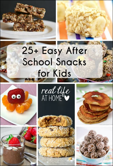 In a rut for after school (or any time) snacks? Here are over 25 ideas for easy to make after school snacks that will delight your kids! | Real Life at Home