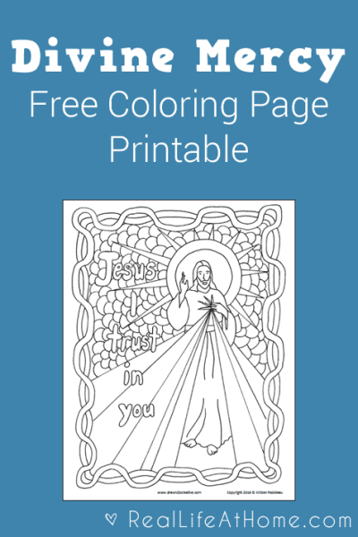 Divine Mercy Coloring Page Free
