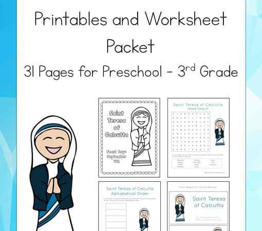 Saint Teresa of Calcutta Printables Packet (Mother Teresa Printables)