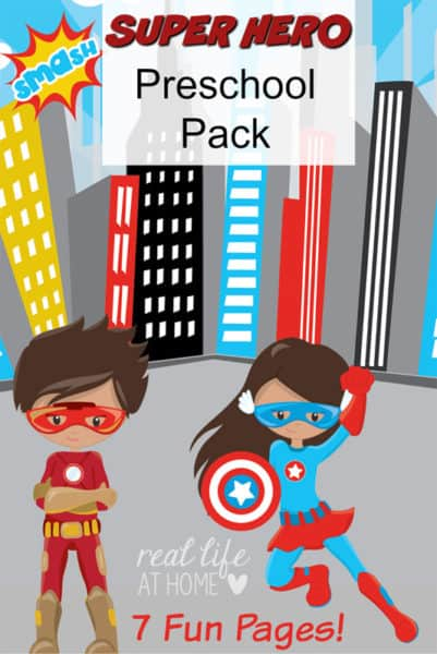 superhero printables and worksheets packet for preschoolers