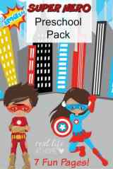Superhero Printables Packet for Preschoolers