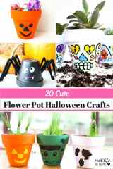20 Cute and Easy Halloween Flower Pot Crafts