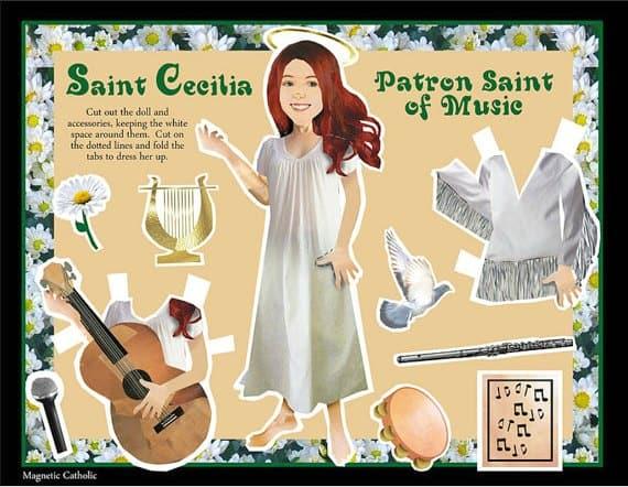 St Cecilia Paper Dolls
