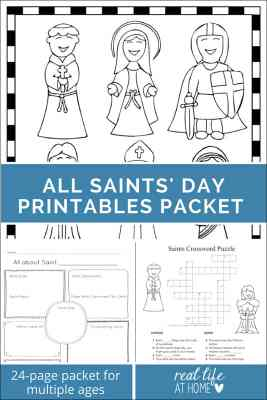 12 october activities for catholic families printable for All saints day coloring pages