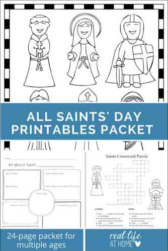 All Saints Day Printables Packet Featuring Puzzles Coloring Pages A Mini Book