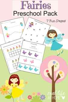 Looking for some fairy worksheet fun for your preschooler? Click through to get the instant downloadable fairy printables for preschoolers! | Real Life at Home