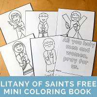 All Saints' Day Coloring Page: Litany of Saints Mini Book