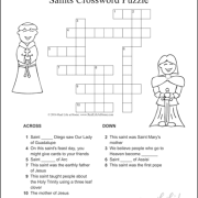 Version One from the Saints Crossword Puzzle Set