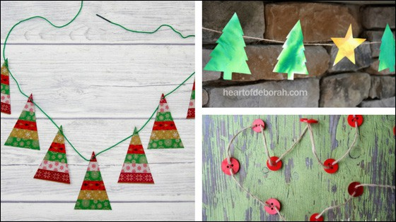 Super cute Christmas garland crafts that kids can make