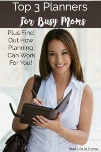 Discover how planners can work for you. Busy moms need all the help that they can get to become and stay organized. Check out these Top 3 Planners for Busy Moms and how they may help you.
