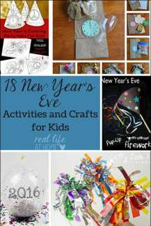 Looking for some fun New Year's Eve activities that are kid-friendly? Come check out 18 ideas for New Year's activities, crafts, printables, and more!   Real Life at Home