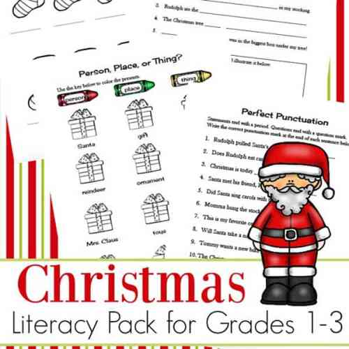 This Christmas language arts worksheets packet is free to download and contains eight pages of Christmas-themed language arts and grammar practice. | Real Life at Home