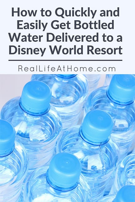 Need a quick and inexpensive way to get bottled water at Disney? We have an easy way to quickly get bottled water delivered to a Disney World resort.