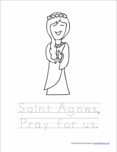 How To Get The Saint Agnes Printables And Worksheets Packet