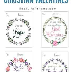 Printable Christian Valentine Cards for Kids