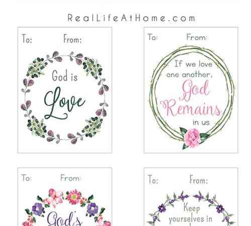 Printable Christian Valentine Cards for Kids