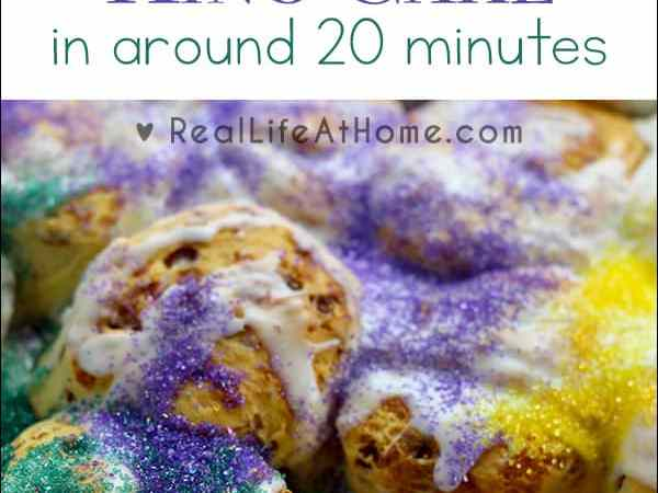 Super Easy King Cake in Around 20 Minutes