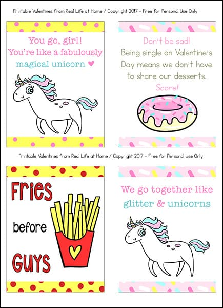 Looking for some fun and quirky valentine cards for kids? This set of eight funny and free printable valentine cards for teens and tweens (or even younger kids or adults) is sure to bring about some smiles and maybe even a giggle or two. | Real Life at Home
