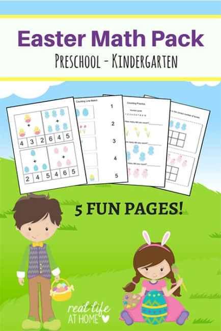 easter math worksheets packet for preschool and kindergarten. Black Bedroom Furniture Sets. Home Design Ideas