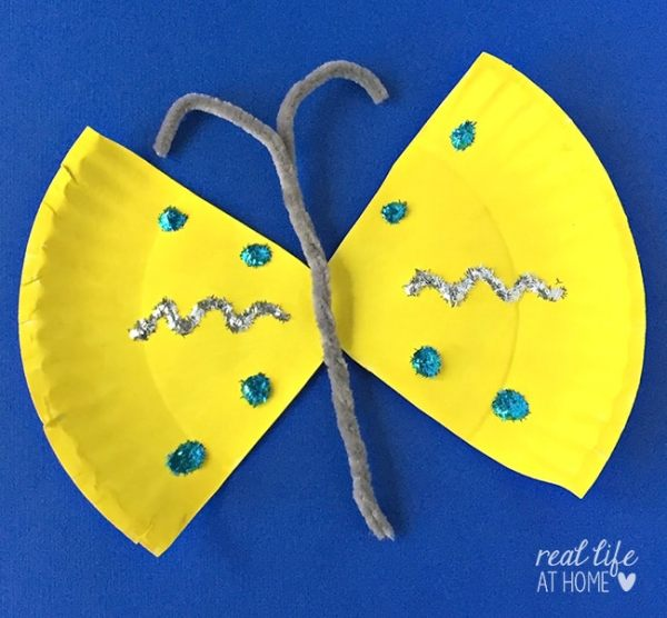 Easy and Inexpensive Paper Plate Butterfly Craft