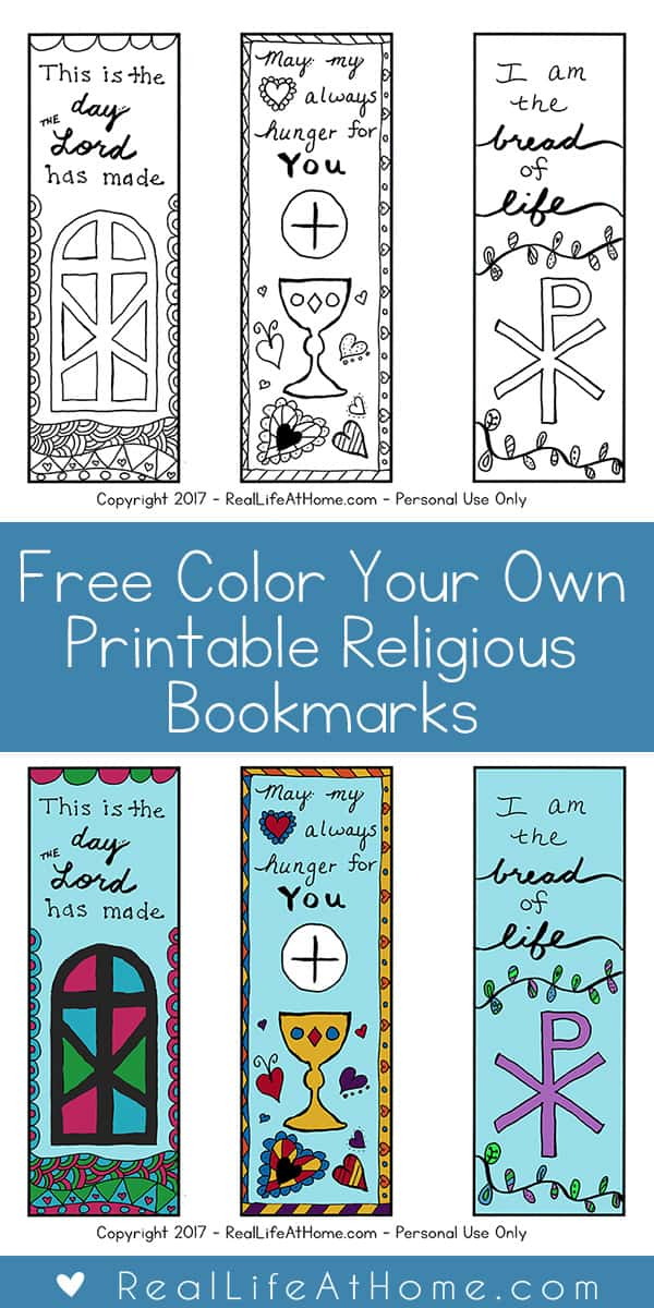 photograph about Free Printable Inspirational Bookmarks to Color referred to as No cost Colour Your Personalized Printable Non secular Bookmarks for
