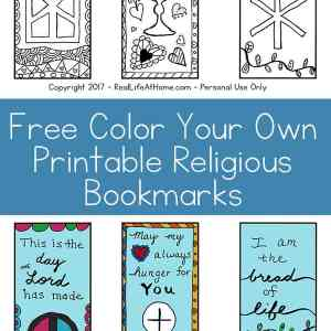 Free Color Your Own Printable Religious Bookmarks - Perfect for all ages! { printable bookmarks   First Communion bookmarks   religious bookmarks coloring page   Scripture bookmarks coloring page }
