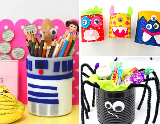 Don't just recycle your aluminum cans. Make some fun and easy recycled can crafts instead! Here are some great ideas for easy, kid-friendly aluminum can crafts. | Real Life at Home