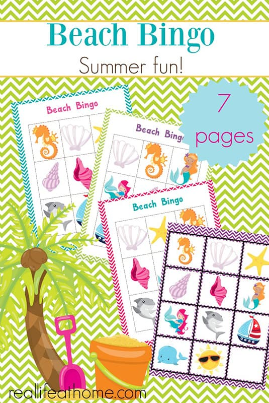 photograph about Printable Bingo Cards for Kids identify Entertaining Summer season Video games: Totally free Printable Seaside Bingo Playing cards