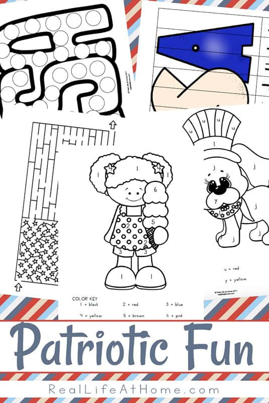 Patriotic Printables Packet: Printables Perfect for 4th of July, Memorial Day, Flag Day, and More