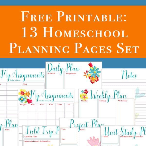 photograph about Printable Homeschool Planners referred to as Cost-free Homeschool Developing Printables: Ideal for Your