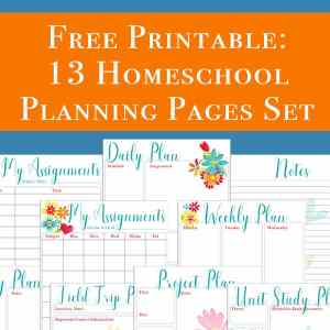 This free 13 page homeschool planning printables set includes pages perfect to use as a homeschool planner or to supplement the one you currently use. Over half of the pages included would also be perfect for non-homeschoolers to use for work or home, such as monthly goals, project planning, daily planning, and more. | Real Life at Home