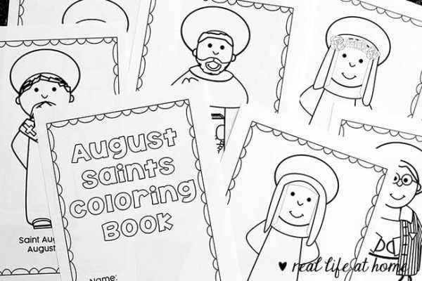 looking for a saint activity for august this free printable saints coloring book for august