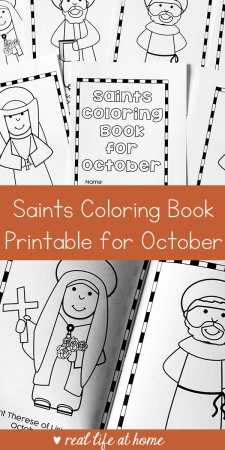 Saints Coloring Book for October Free Printable | Real Life at Home