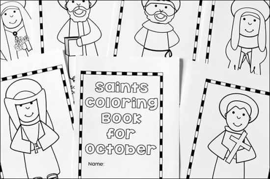 Pages from the October Saints Coloring Book Free Printable Set | Real Life at Home