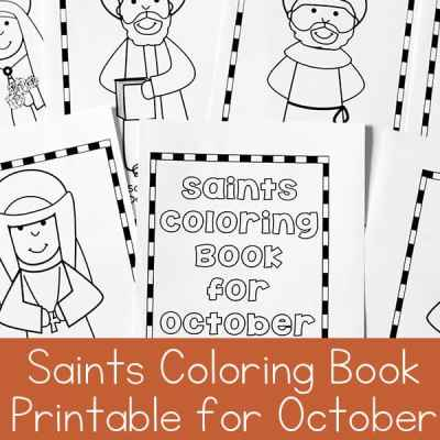 Saints Coloring Book Printable for October