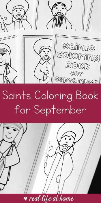 Saints Coloring Book for September Printable | Real Life at Home