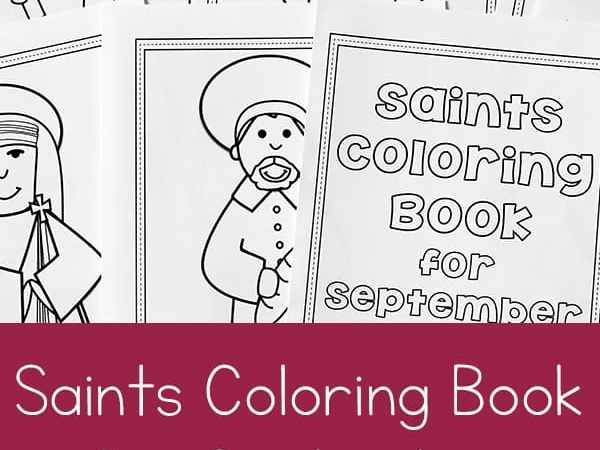 Printable Saints Coloring Book for September