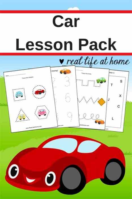 car worksheets free basic skill printables for preschool. Black Bedroom Furniture Sets. Home Design Ideas