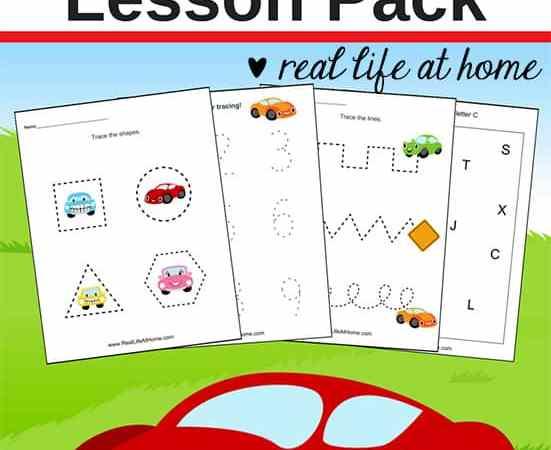 Car Worksheets: Free Basic Skill Printables for Preschool