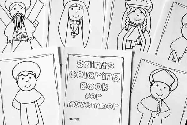 November Saints Coloring Pages for Catholic Kids | Real Life at Home