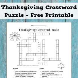 A free printable Thanksgiving crossword puzzle (includes an answer key). This is perfect for upper elementary, middle school, and high school students.
