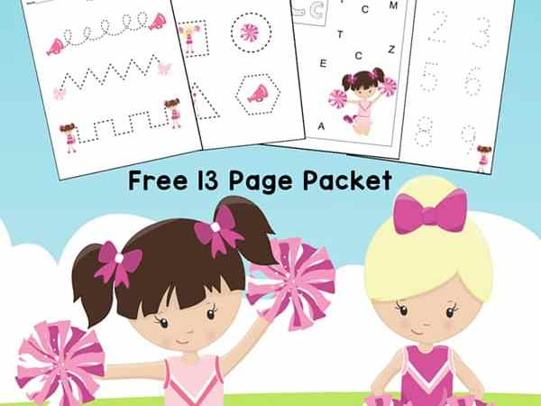 Cheerleader Printables: Cheerleading Worksheets for Preschool and Kindergarten