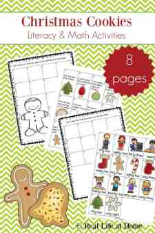 Christmas Cookies Literacy and Math Activities