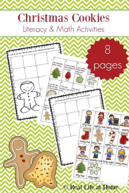 Christmas Cookies Literacy and Math Activities for Elementary School #ChristmasWorksheets #ChristmasPrintables