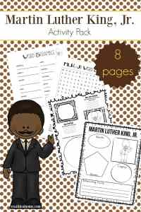 Free printable eight page Martin Luther King Jr. worksheets packet which includes items such as a Martin Luther King Jr. word search, MLK word scramble, and more.   Real Life at Home