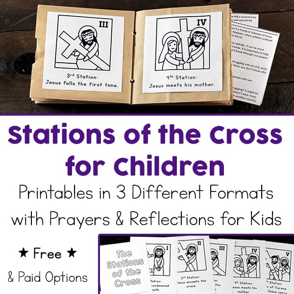 photo relating to Stations of the Cross for Youth Printable called Printable Stations of the Cross for Youngsters (Booklet and