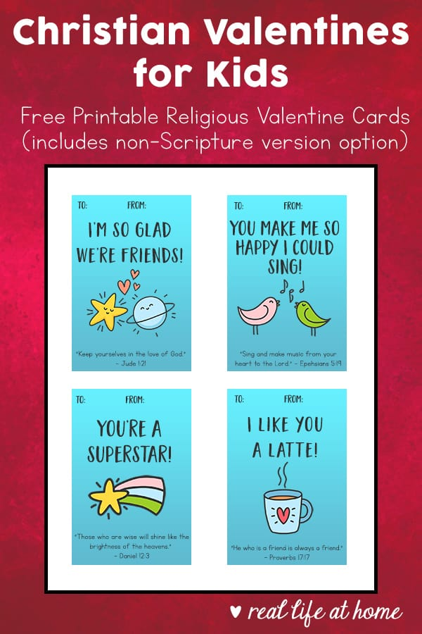 picture regarding Kids Valentines Printable titled Christian Valentines for Youngsters: Free of charge Printable Non secular